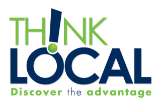 """Graphic that says """"Think Local, Discover the Advantage"""""""
