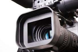 Image of a videocamera lens