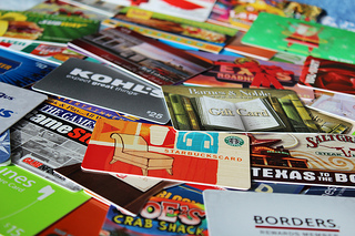 Image of a pile of gift cards